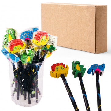 Fundraising Products | Dinosaur Pencils with Large Eraser Ends