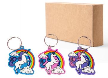 Party Bag Ideas / Class Gift | Set of 3 Rainbow Unicorn Keyrings