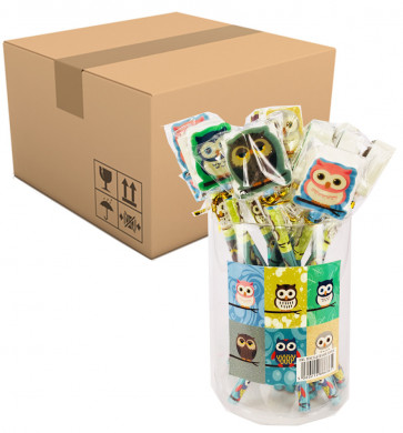 Fundraising Products | Colourful Owl Topper Pencils - PTA/Library/Charity Stationery Sales