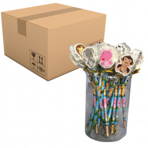 Fundraising Products | Jungle Friends Animal Topper Pencils - PTA/Library/Charity Stationery Sales