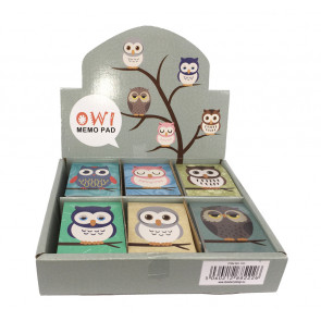 Bulk Stationery | Owl Notepads/Memos & Colouring Book. Low Cost Stationery