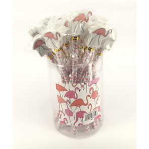 Bulk Stationery / Party Bags | Tub Flamingo Topper Pencils