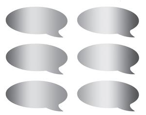 Scratch off stickers-speech bubble