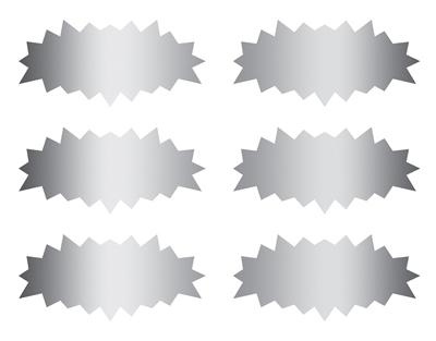 Scratch off stickers - starburst