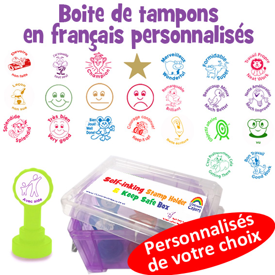 Exciting new product! Pick 'n mix French Teacher Self-Inking Stamper Box!