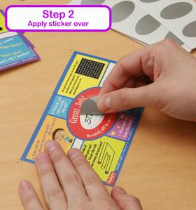 Scratch Stickers - Step 2